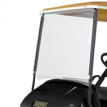 """Clear Flat Windsheild Kit for E-Z-GO TXT with 80"""" Top"""