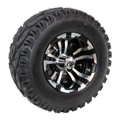 "20x8-R10 Blaze Tire w/ 10"" Black/ Machined Maverick Wheel (Passenger Side)"