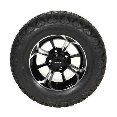 23x10.5-12 Backlash X Machined w/ Black Spinout Wheel Assembly