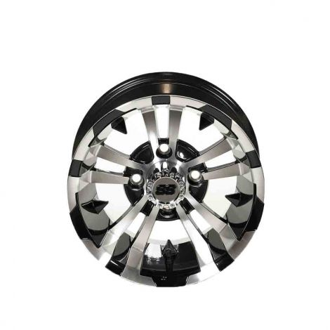 12x7 Maverick SS Wheel (Machined w/ Black Accents)