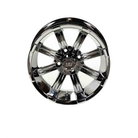 14x7 Black Chrome Spartan SS Wheel