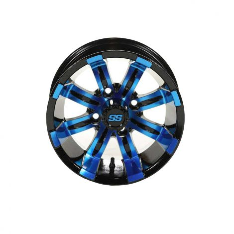 12x7 Spartan SS Wheel (Black & Blue)