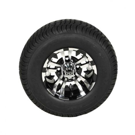 205/65-10 Loadstar Tire w/ 10x7 Black/ Machined Maverick Wheel