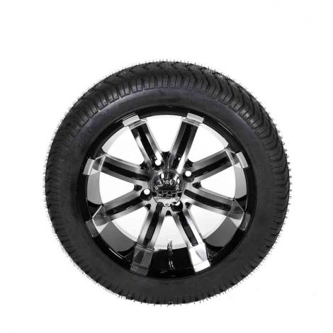 205/40-R14 Paramount (DOT) Spartan SS Wheel Assembly (Machined w/ Black Accents)