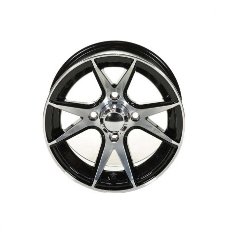 Black Apollo Wheel w/ Machined Face (12x7)