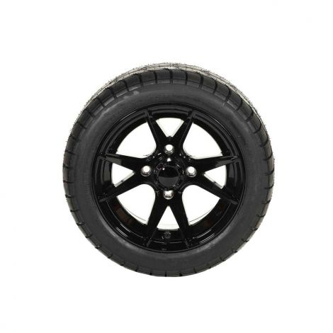 "215/40-12 Backlash Tire w/ 12"" Gloss Black Apollo Wheel (Driver Side)"