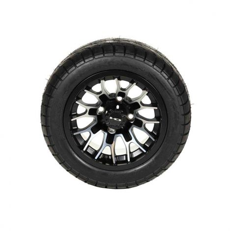 "215/40-12 Backlash Tire w/ 12"" Machined Face RTC Wheel Assembly (Driver Side)"