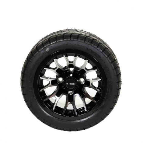 215/40-12 Backlash w/ Gloss Black RTC Wheel Assembly (Passenger Side)