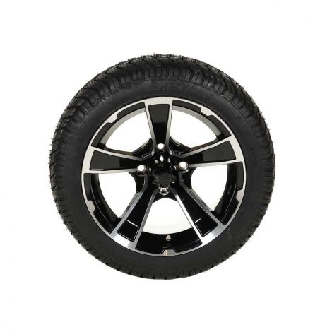 205/40-14 Paramount Tire w/ 14x7 Rogue Wheel (Black/ Machined)