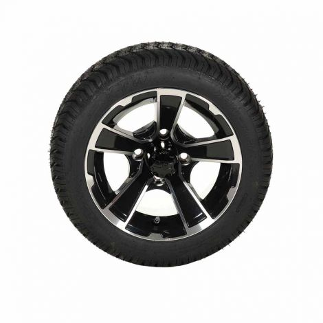 205/40-12 Paramount Tire w/ 12x7 Rogue Wheel (Black/ Machined)