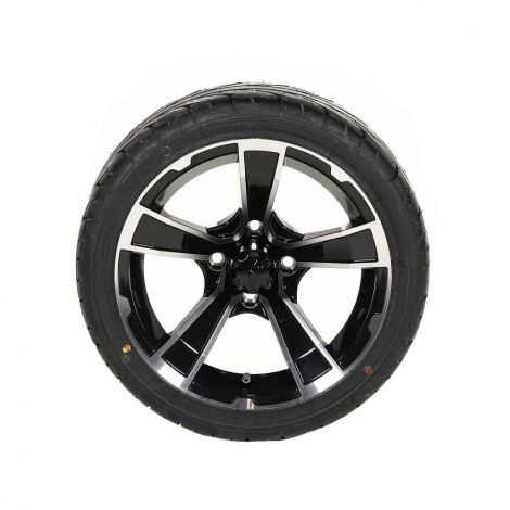 205/35-R14 KZT Tire w/ 14x7 Black/ Machined Rogue Wheel (Driver Side)