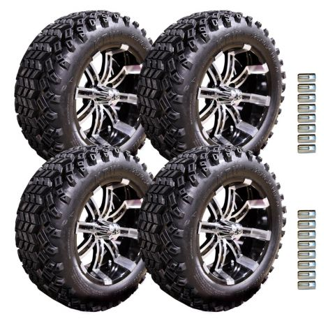 "14"" Spartan Wheel and Desert Eagle Tire Package 