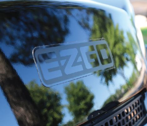 Blacked Out E-Z-GO Decal - Large