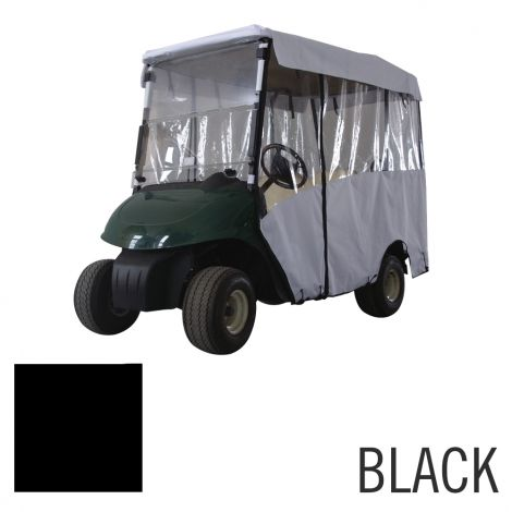 4 Pass Enclosure for EZGO RXV-Black