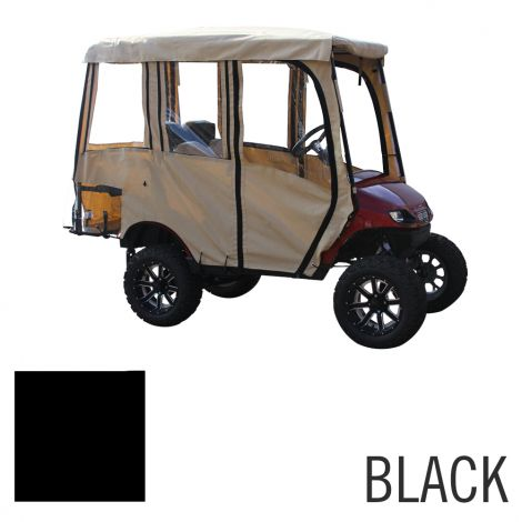 Deluxe 4 Pass Enclosure for EZGO TXT | Black