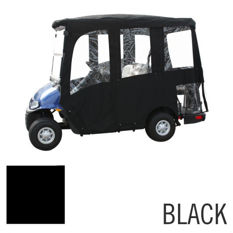 Deluxe 4 Pass Enclosure for EZGO RXV-Black