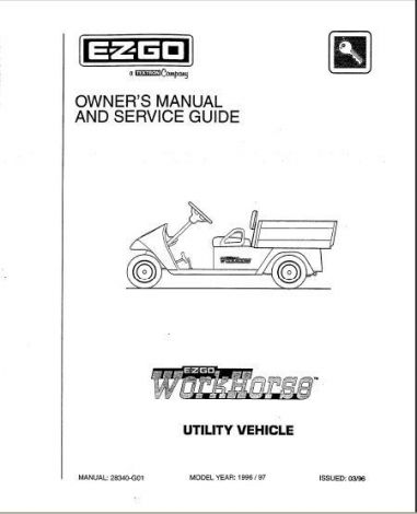 1996 Owners Manual and Service Guide for Workhorse