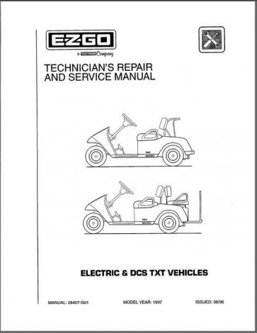 1997-1998 Technician's Service and Repair Manual for Electric/DCS TXT Vehicles