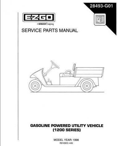 1998 Service Parts Manual for E-Z-GO Gasoline Powered 1200 Series Utility Vehicles
