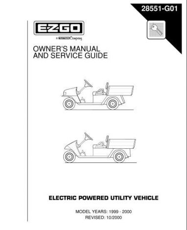 1999-2000 Owners' Manual and Service Guide for Electric Powered Utility Vehicle