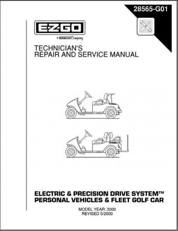 2000 Technician's Repair and Service Manual for Electric and Precision Drive System Fleet and Person