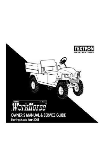 2003 Owner's Manual and Service Guide for Gas ST Series Workhorse