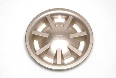 "8"" Metallic Gold Hubcap Assembly (No Logo)"