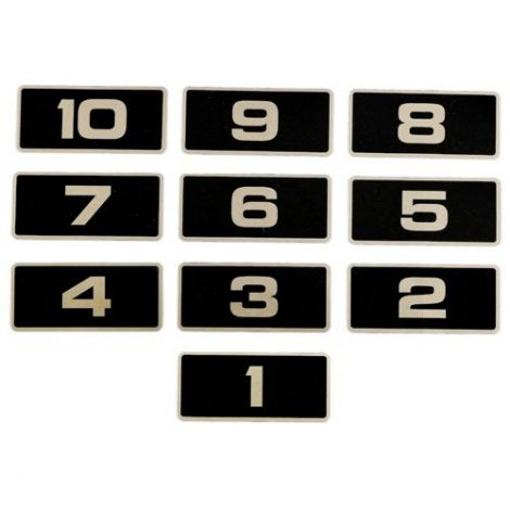 Platinum Number Decals 101-110