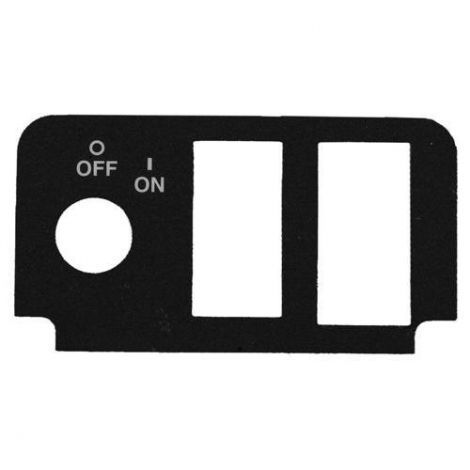 Forward & Reverse Console Plate Decal with State of Charge Meter