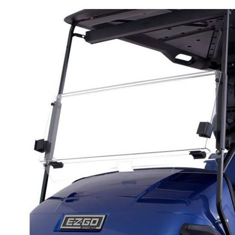 Clear Fold Down Windshield Kit for E-Z-GO TXT