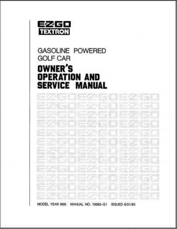 1984-1986  Service Manual for Gas Golf Cars (GX series)