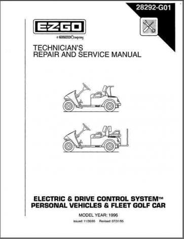 1996 Technician's Service and Repair Manual for TXT Electric and DCS Vehicles