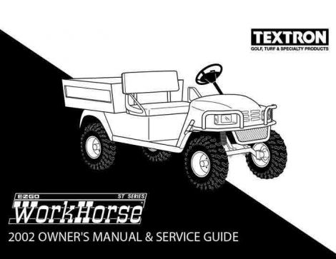 2002 Owner's Guide for ST 350 and ST Sport Utility Vehicles