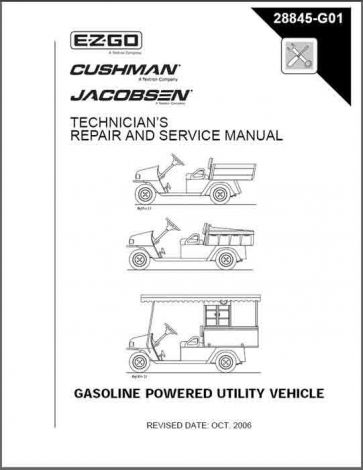 2004-2006 Technician's Repair and Service Manual for Gas MPT, Industrial and Jacobsen Hauler. Refres