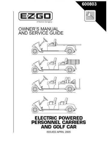 2005 Owner's Guide for Electric Shuttle