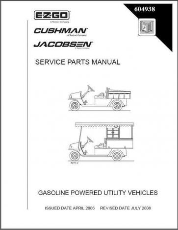 2006 - current Service Parts Manual for Cushman MPT 1200
