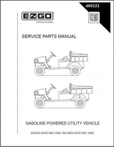 2006-2008 Service Parts Manual for Gas ST 350/Sport