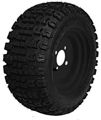 22x11.00-10 Terra Trac with Black Steel Wheel Assembly