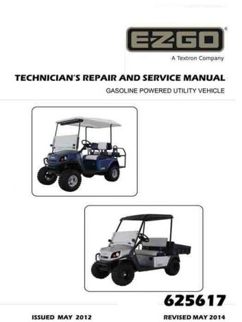 2012 - Current Technician's Repair & Service Manual for Gas Express L4, Express S4, Terrain 250, Ter-625617