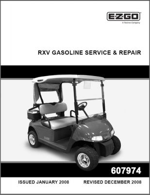 2008 2009 repair service manual for gas rxv rh shop txtsv com 2009 Ezgo Golf Cart Transaxle Ezgo TXT