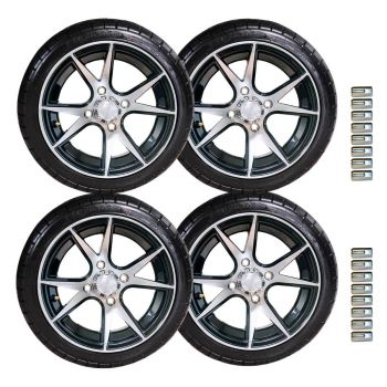 "12"" Apollo Wheel and Backlash Tire Set 