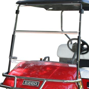 Folding Windshield for EZGO TXT- Clear