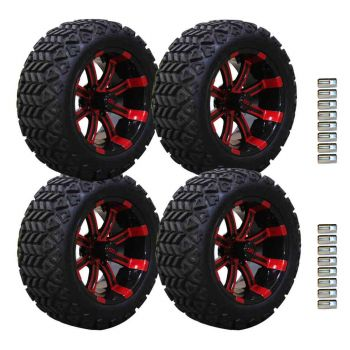 14 Inch Spartan SS on 23x10 Backlash X Combo | Red/Black