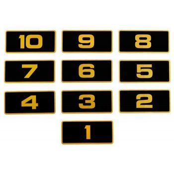 Gold Number Decals 31-40