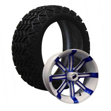 """14"""" Spartan on 23x10 Backlash X Combo   Blue/White"""