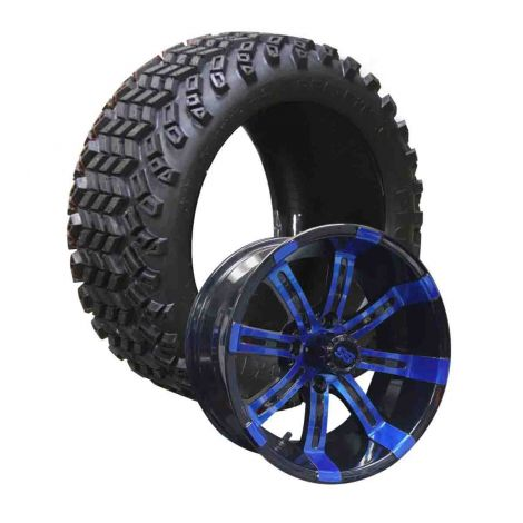 12 Inch Spartan on 23x10 Pioneer Tires Combo | Blue/Black