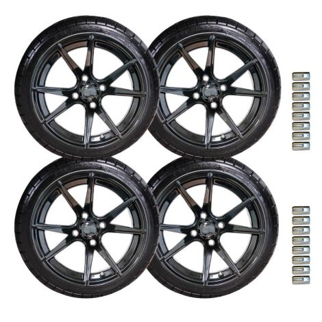 "14"" Apollo Wheel and Backlash Tire Set 