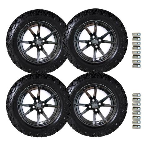 "14"" Apollo Wheel and Backlash X Tire Set 