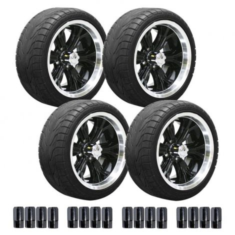 "14"" Black Optimus Wheel on 215/35 Street Tire Set"