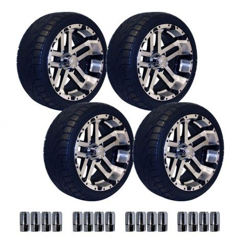 14' Machined Blittz Wheel on 215/35-14 Backlash Tire Set